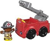 Fisher-Price Vehículo y Figura de Little People - Bombero y camión de Bomberos