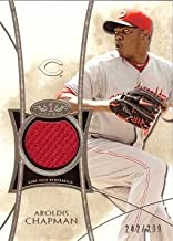 2014 Topps Tier One Relics #TOR-AC Aroldis Chapman Game Worn Jersey Baseball Card - Only 299 made! - Near Mint to Mint