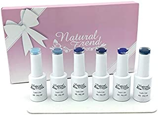 NaturalTrend ジェルネイル カラー 6本セット ファイル付き (AquaSeaBlue)