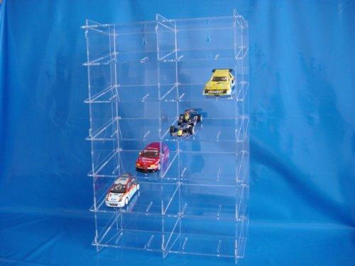 Sammelvitrine aus Acrylglas für 1:32 Slot Cars SL015 Rückwand Spiegel