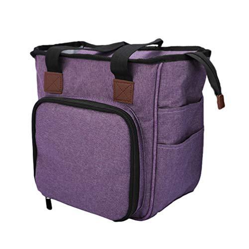 Bolsa tote de crochê TOPBATHY para armazenamento de agulhas de tricô, bolsa de ombro, organizador de ferramentas para viagem em casa