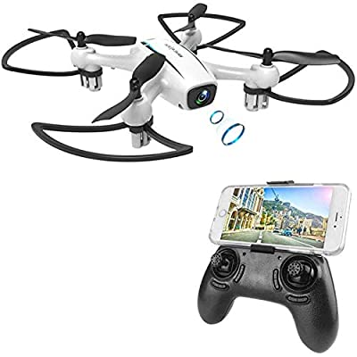 WINGLESCOUT Drone with Camera,Boy Toys Remote Control Airplane with 720P HD FPV Camera Live Video,RC Quadcopter with Altitude Hold,Headless Mode,3D Flips and One Key Return,Kids from Cellstar Coltd