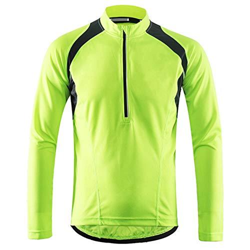 Hombre Chaqueta de Ciclismo Ligero, Transpirable MTB Mountain Coat A Prueba de...