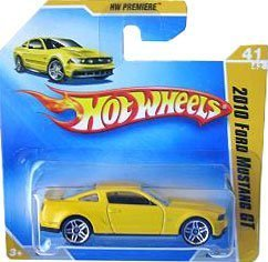2009 Hot Wheels 2010 FORD MUSTANG GT Hw Premiere #41 (YELLOW) SHORT CARD by Hot Wheels