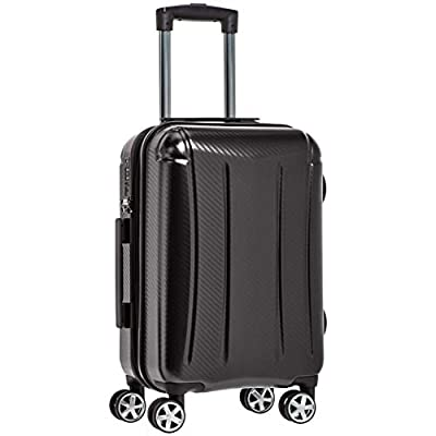 AmazonBasics Oxford Carry-On Expandable Spinner Luggage Suitcase with TSA Lock - 20 Inch, Black