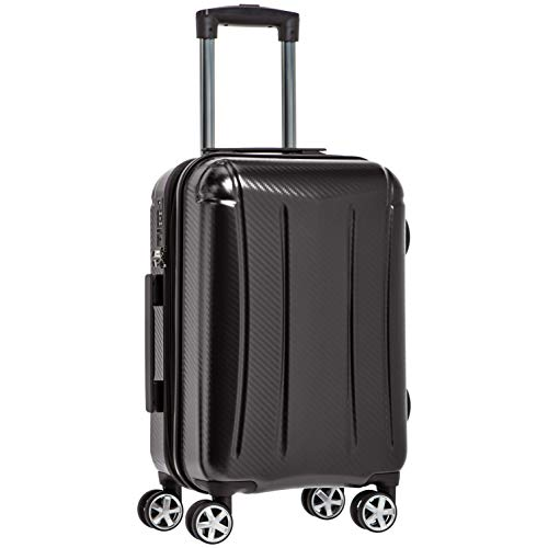 Amazon Basics - Maleta rígida «hardside» Oxford, con ruedas - 55 cm, Negro