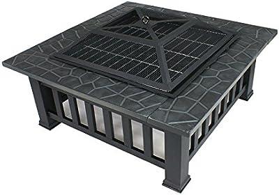 Amazon.com: femor 32 Fire Pit Mesa al aire libre ...