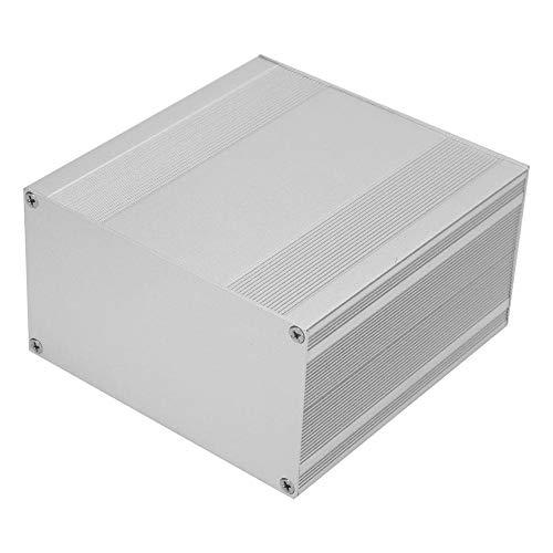 Caja de caja de aluminio Caja de caja de instrumentos de PCB de proyecto de placa de circuito electrónico DIY de plata para carcasa de aluminio de disipación de calor de productos electrónicos, 3,2 ×