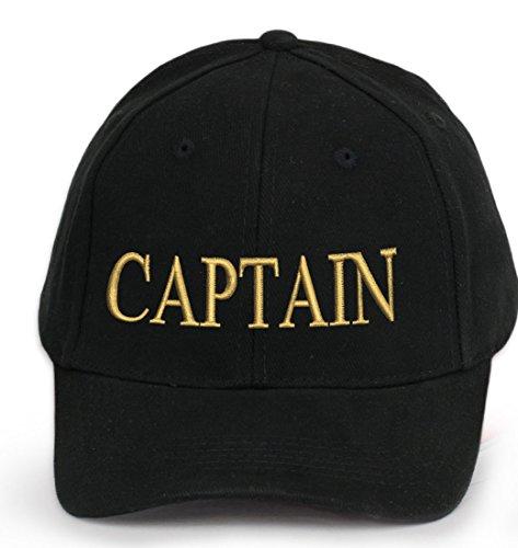 4sold Kapitänsmütze Cap Captain Ancient Mariner, Captain Cabin Boy Crew First Mate Yachting Baseballmütze Inschrift Schriftzug Schwarz Weiß rot Weiss Army Military Baseballmütze Security (Captain)