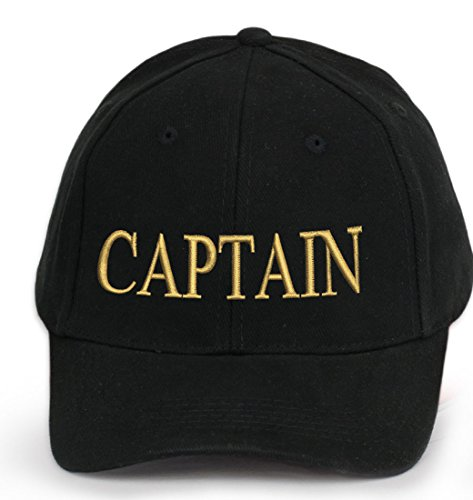 4sold – Gorro del Capitán Cap Captain Ancient Mariner, Capitán Cabin Boy Crew First Mate Yachting Béisbol Gorro inscripción Texto Blanco y Negro Rojo Blanco Army Military Béisbol Gorro Security