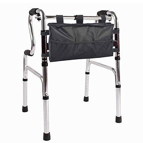 YIQIFEI Walker Bag Bolsa de Almacenamiento Mobility Aid Rollator Bolsa de Accesorios Organizador de tamaño Universal Tote para Cualquier Walker Style Rollator y (Silla)