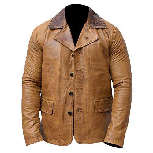Mens Red Dead Redemption II Arthur Morgan Coat Chaqueta de cuero marrón