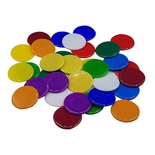 dewdropy 100pc / 19mm Farbige Kunststoff Zähler Zählen Chips Bingo Marker Mit Aufbewahrungstasche Für Mathematik Oder Spiele