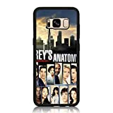 Galaxy S8 Case, Drop Protection Shock Absorbing Silicone Rubber Bumper + Hard Back Shell Protective Case for Samsung Galaxy S8 - Grey's Anatomy Collage Print