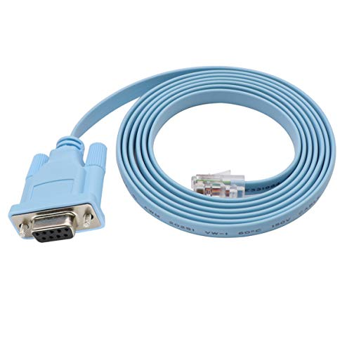 Cisco Console Cable 9-pin DB9 Female Serial RS232 Port to RJ45 Male Cat5 Ethernet LAN Rollover Console Cable Switch Cable Cisco