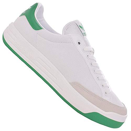 adidas Originals Rod Laver - Zapatillas de tenis para hombre, color blanco y verde, color Blanco, talla 46 EU