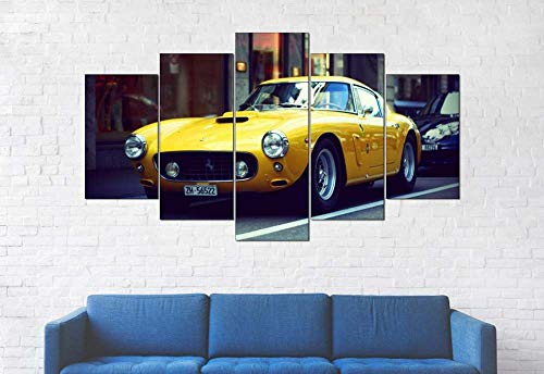 KOPASD 5 Panel Wall Art 1961 Ferrar 250 GT Sports Car Painting Pictures Print On Canvas The Picture For Home Modern Decoration Piece Stretched By Wooden Frame Ready To Hang
