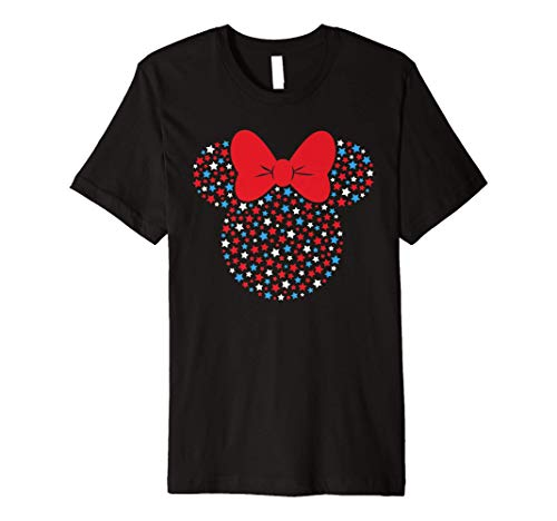 Disney Minnie Mouse Red White Blue Stars 4th of July Premium T-Shirt