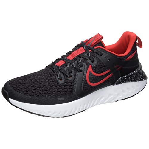 Nike Legend React 2, Scarpe Running Uomo, Black/Black/University Red/White, 40.5 EU