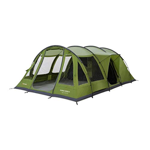 Vango Icarus 600DLX Waterproof 6 Person Deluxe Tunnel Tent, Green/Grey, One Size