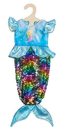 Heless 2920 - Kleid für Puppen, Meerjungfrau Ava mit Wendepailletten, Größe 35 - 45 cm