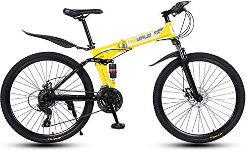 Sale!! HongLianRiven BMX 26 Inch 27-Speed Mountain Bike for Adult, Lightweight Full Suspension Frame...