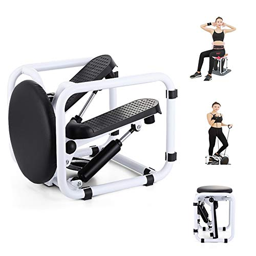 Good KK Swing Stepper Home Twist Stepper Mini Hydraulic Mute Mountain Climbing Pedal with Resistance Bands Aerobic Up-Down Stepper Home Training Gym Equipment