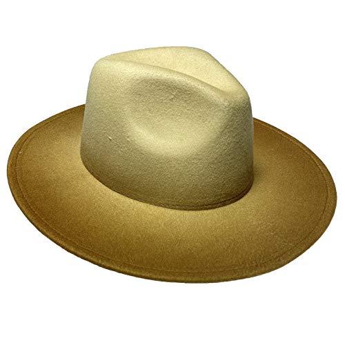 JK Home - Sombrero jazz grande para disfraz de Halloween, Navidad, boda, graduación amarilla
