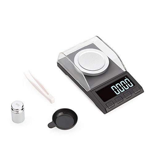 100g / 50g 0.001g Báscula de precisión digital para joyería Oro Hierba Peso de laboratorio Escala de miligramos Balanza electrónica Escala precisa 100g 0.001g