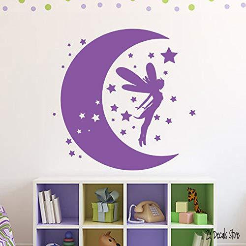 Fairy Dreams Wall Sticker Moon Stars Tatuajes de pared para