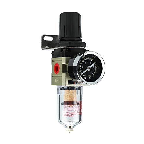 Neu Wasserabscheider Druckminderer Druckluftregler für Druckluftkompressor, Filter 1/4 Zoll