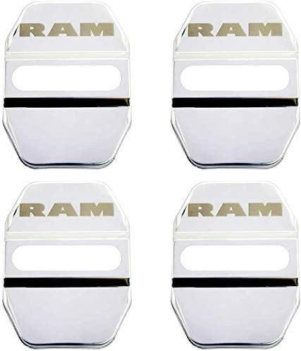 4 Piezas Metal Inoxidable Protectora Cubierta Cerradura Puerta del Coche para Dodge Ram Journy Caliber Charger Durango, AnticorrosióN ProteccióN Interior Accesorios