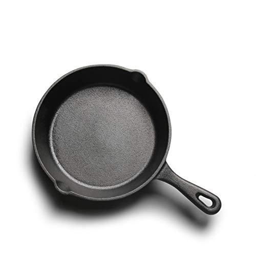 DASND Pote de Hierro Fundido Pote Antiadherente Pequeño freír 14cm16cm20cm Pan Mini no Recubierto (Size : 16cm)