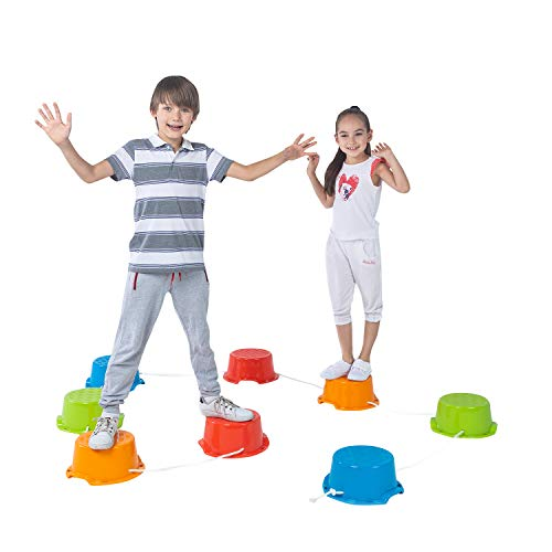 Why Should You Buy Special Supplies Balance Buckets Stepping Stones for Kids, 8 Pc. Set, Non-Slip Te...