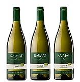 Raimat | Vino Blanco Raimat Castell Chardonnay Ecologico 2019 | MEDALLA DE ORO MUNDUS VINI - 2018 | D.O. Costers del Segre (3 Botellas)