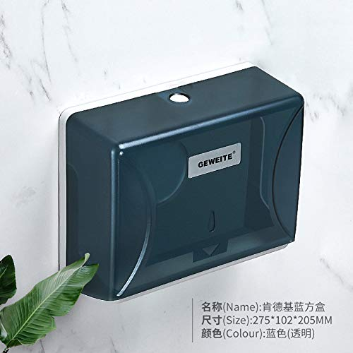 Joeesun Free Punch Bad Handtuch Tissue Box Wand-WC-Tray Kitchen Towel Rack Square kommerziellen KFC Blue Box 102BB308