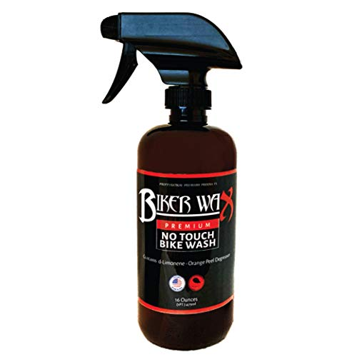 No Touch Bike Wash - Motorcycle Engine & Paint Cleaner, 16 Ounce Spray Bottle, Brake Dust Cleaner,...