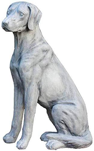 WYXMJ Garden Dog Statue Dog Sculpture Model Animal Yard Lawn Woodland Golden Retriever Lawn Ornaments