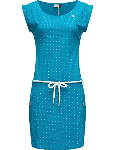 Ragwear Damen Baumwoll Jersey-Kleid Tag Dots Türkis20 Gr. M