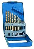 S&R Punte Trapano Metallo Titanio, Rettificate, 1-10 mm, 135 °, DIN 338, in Cassetta di Metallo. (Set 13 Punte)