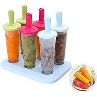 6-Count Homemade Kids Popsicle Maker Molds