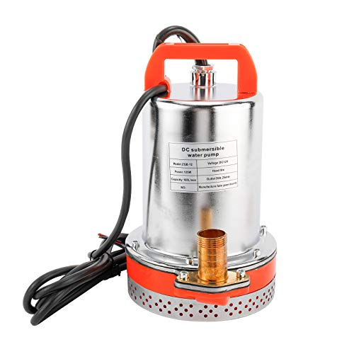 PetierWeit DC 12V Solar Water Pump Submersible Well booster Pump, For Ship & Irrigation & Pond