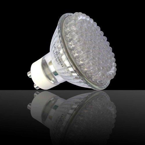 GU10 GU20 con 78 LED, luce bianca calda, 230 Volt, certificazione GS