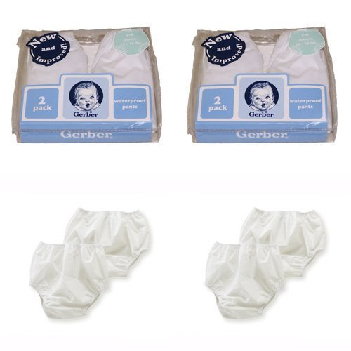 Gerber Plastic Pants, 18 Months, Fits 24-28 lbs. (4 pairs)