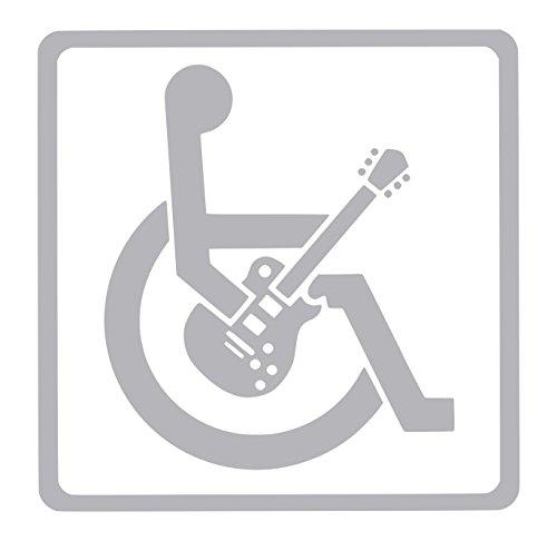 【全16色】車椅子マーク/車イス サイン/カー ステッカー/Car/ギター/1/車用/シール/ Vinyl/Decal /バイナル/デカール/-1 (シルバー) [並行輸入品]