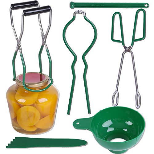Canning Supplies Starter Kit Canning Kit Include- Kitchen Tongs, Canning Funnel, Canning Jar Lifter,...