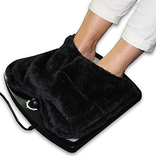 FISHTEC ® Scaldapiedi Elettrico con Termostato - Caldo in 2 minuti