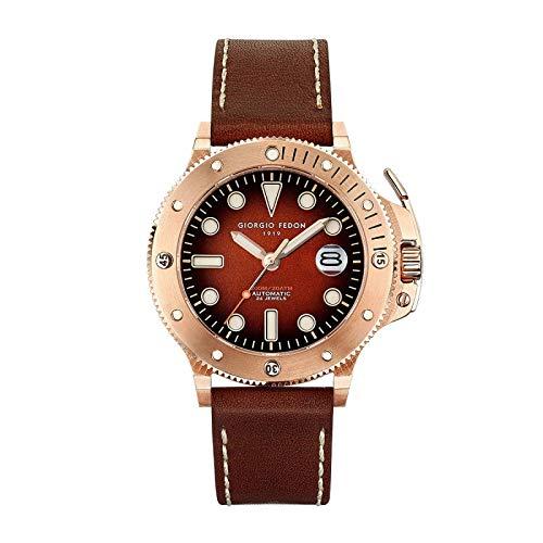 Giorgio Fedon Reloj Automático Hombre Aguamarina IP Oro Rosa GFCR003