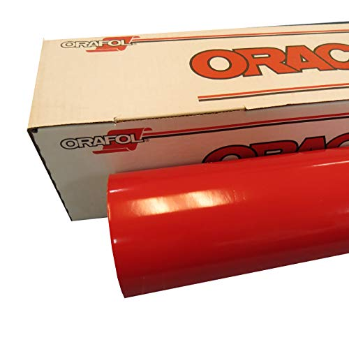 "ORACAL 24"" x 30 Ft Roll of Glossy 651 Red Vinyl for Craft Cutters and Vinyl Sign Cutters"