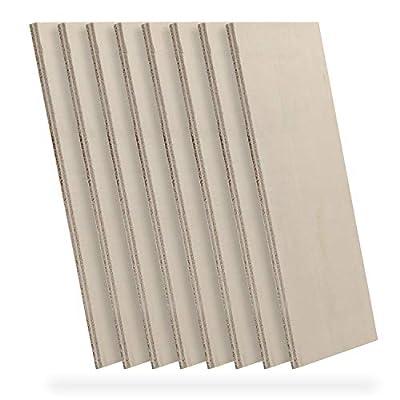 Genmitsu CNC Materials Premium Poplar Plywood, 8Pcs 1/5 x 7 x 4 Inches, Ideal for CNC, Laser Cutting, Wood Burning, Arts, DIY Crafts